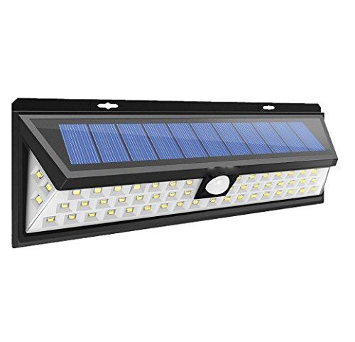 Solarleuchte Außen 118 LED Weitwinkel Solarlampe Solarleuchte mit Bewegungsmelder für Ihr Outdoor, Garten, Garage, Auffahrt, Balkon, Kellerzugang, Hof, Terrasse usw