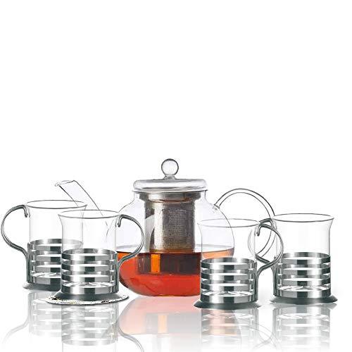 Leonardo Set Tee Balance 5tgl. / 1 Teekanne Balance + 4 Teegläser