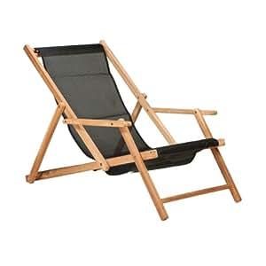 maxx deckchair liegestuhl kunststoffgewebe schwarz k che haushalt. Black Bedroom Furniture Sets. Home Design Ideas