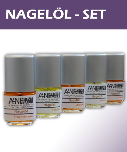 Nagelöl Set Früchtetraum Lemon Mandel Orient Vanille hochwertiges Pflegeölset mit Vitamin A, E. 11ml