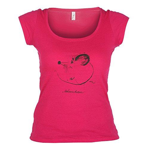 T-Shirt Mäuschen, Trachten Shirt, pink, Gr. -