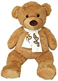 Wagner 9007 - XXL Kuscheltier Teddybär mit Schal - 100 cm groß - Plüschbär Teddy Kuschelbär