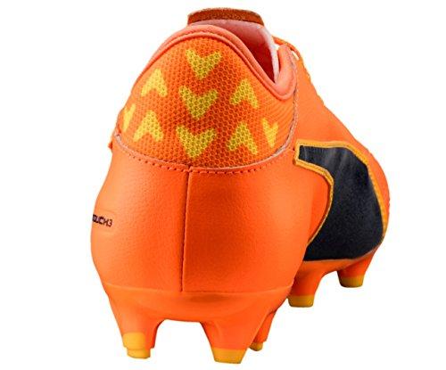 Puma evoTOUCH 3 Lth FG - puma black-puma black-puma sil Orange Clown Fish-Peacoat-ULTRA YELLOW