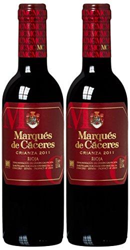 Marques DeMarques De Caceres - Vino Tinto Crianza Botella 2010/2012, 375 ml, 2 unidades