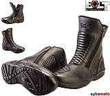 Bolt R34-HYPER Motorrad-Stiefel, für Männer und Frauen, Laufen, Sportsport, wasserdicht, atmungsaktiv, mittlere Länge, Schwarz