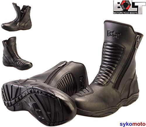 rad-Stiefel, für Männer und Frauen, Laufen, Sportsport, wasserdicht, atmungsaktiv, mittlere Länge, Schwarz ()