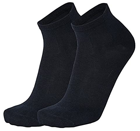 Tobeni 6 Pair of Bamboo Short Socks Quarter for Women and Men Colour Navy Size EU 39-42 / UK 7-9