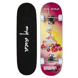 fun4u kinderboard skateboard roller girl f r m dchen ab. Black Bedroom Furniture Sets. Home Design Ideas