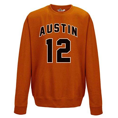 Felpa Girocollo Uomo Austin 12 Orange Orange Crush
