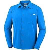 Columbia Erkek Triple Canyon Solid Long Gömlek, Mavi, L Beden