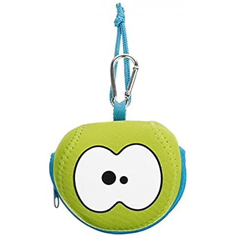 Fruitfriends FF3014 Borsa a forma di mela, in neoprene, colore: verde/blu, 45 x 35 x 25 cm