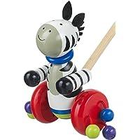 Orange Tree Toys Push Along Wooden Toy - Zebra