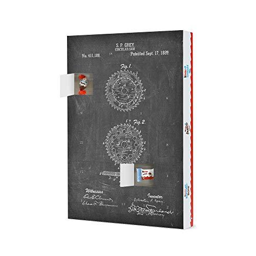 artboxONE Adventskalender XXL mit Produkten von Kinder® Kreissäge Patent (Tafel) Adventskalender Für Papa