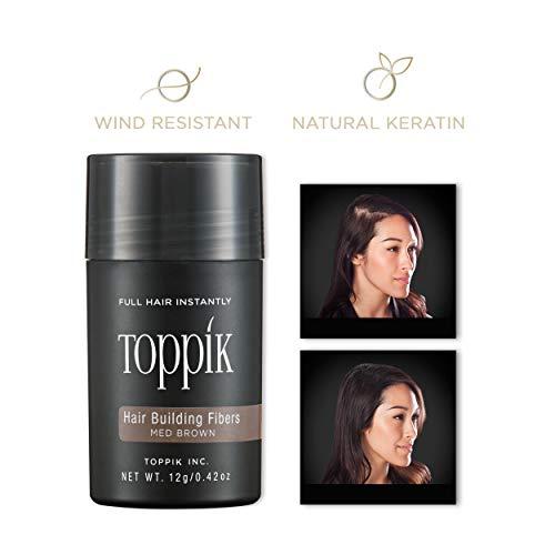 TOPPIK Hair Building Fibers Medium Brown, 1er Pack (1 x 12 g)