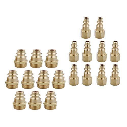 Npt-set (KESOTO 20x Luftlitungverbinder Schnellkupplung Schnellwechsler Set 1/4 Zoll NPT M/F Männlich Weiblich)