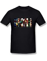 Pliuegy Men's Justice League Boxes T-Shirt