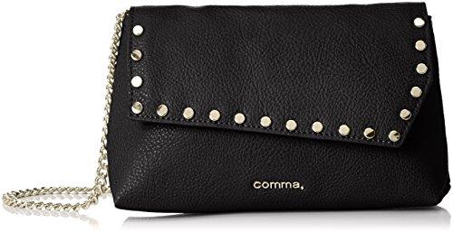 comma-shoes-damen-83609948584-schultertaschen-schwarz-black-9999-20x14x6-cm