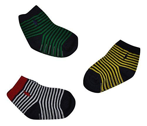 Ralph Lauren Baby Jungen (0-24 Monate) Socken Mehrfarbig giallo/bianco/verde Einheitsgröße - Baby Ralph Jungen Lauren Socken