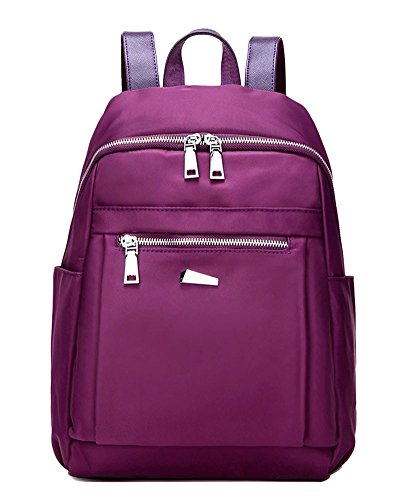 Damen Nylon Rucksack Large Mode Rucksack Blau B Violett Big