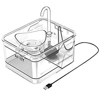 NPET Automatique Fontaine à Eau pour Chat Chien, Distributeur Eau pour Animal Domestique Filtre, 2,6L Électrique et Ultra Silencieuse WF010 - Garantie de 2 Ans