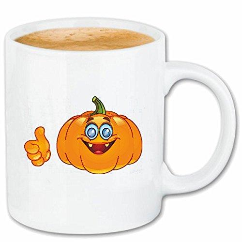 asse LACHENDER Halloween KÜRBIS Smiley Smileys Smilies Android iPhone Emoticons IOS GRINSE Gesicht Emoticon APP Keramik 330 ml in Weiß ()