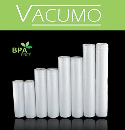 8 x Vakuumrolle Vakuumschlauch Vakuumbeutel SPARPACK in 4 Größen 15 20 25 30 x 600 cm goffriert für alle Vakuumierer LAVA SOLIS GASTROBACK CASO ALLPAX und andere