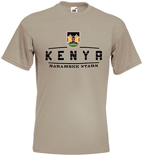 Kenia T-Shirt Camouflage Army WM 2018 . Vintage Destroy Wappen D01
