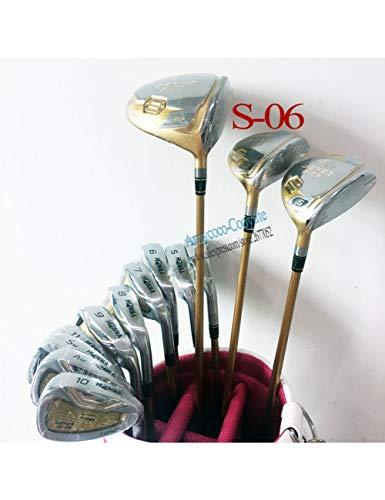 HDPP Golfschläger Neu Herren Golfschläger 4 Sterne Komplettset GolfSteel Golfschaft Ohne Tasche -