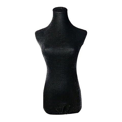 NAVAdeal Velvet Mannequin Top Cover For Upper Body Dress Stand Form Model Dummy (Black) (Mannequin Is Not Included)