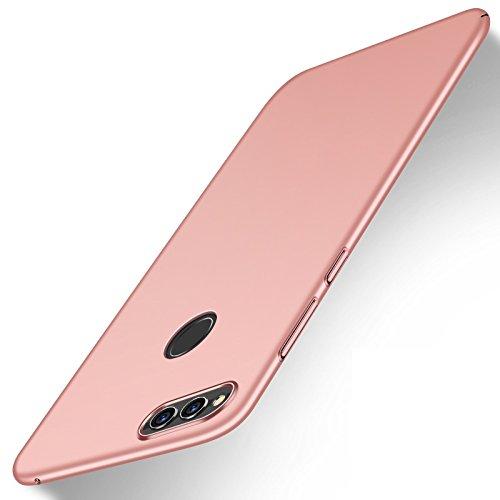 Apanphy Huawei Honor 7X Hülle,Hohe Qualität Ultra Slim Harte Seidig Und Shell Volle Schutz Hinten Haut Fühlen Schutzhülle für Huawei Honor 7X, Roségold