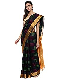 CLASSICATE From the house of Classicate From The House Of The Chennai Silks - Kora Silk Cotton Saree - Black - (CCMYSC9490)