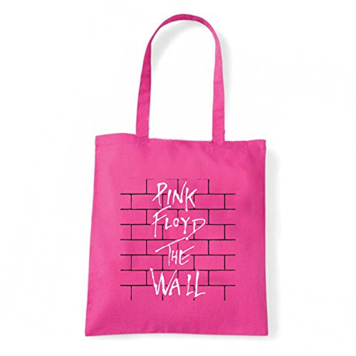 Art T-shirt, Borsa Shoulder Pink Floyd The Wall, Shopper, Mare Fucsia