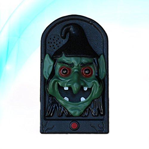 Halloween Türklingel Reden Scary Horror Modellierung Sounds für Party Bar Tür Dekorationen Kinder Geschenk Spielzeug (Grüne Hexe) (Sounds Horror Halloween-sound-effekte, Of)