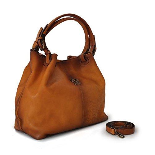 Pratesi Collodi piccola borsa donna in vera pelle - B168/P Bruce (Caffè) Cognac