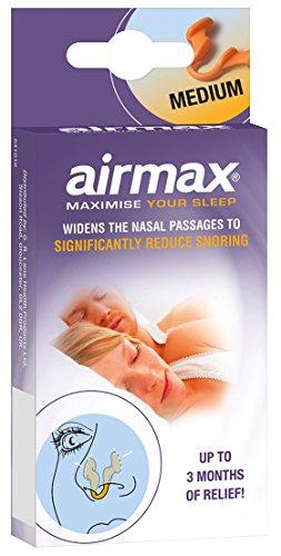 AIRMAX® Nasendilatator für eine leichtere Nasenatmung bei verstopfter Nase - spreizt die Nasenflügel - mit Aufbewahrungsdose (1 Stück Größe M) ...