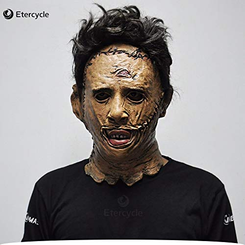 as Chainsaw Massacre Leatherface Masken Scary Horror Maske Film Cosplay Masker Halloween Kostüm Requisiten Hohe Qualität Spielzeug ()