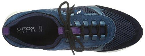 Geox Damen D Sukie B Sneaker Blau (Navy/Petrolc4076)