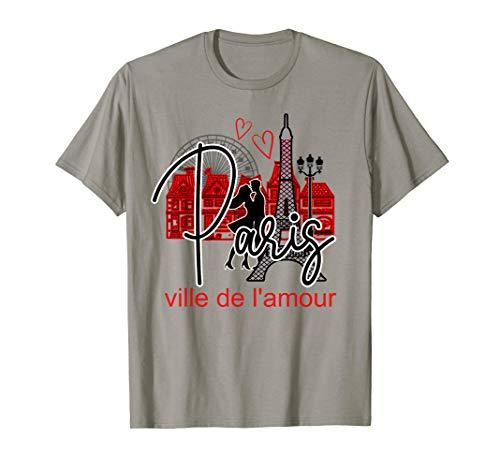 Paris France Eiffel Tower Travel Romance City of Love Gift  T-Shirt -