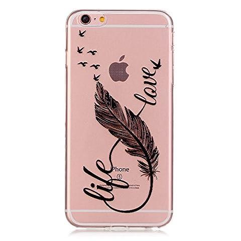 Coque iPhone 6/6S Silicone Gel Housse [avec Gratuit Protections D'¨¦cran],CaseHome Cristal Clair Ultra Mince Transparente (Silicon Schermo Pelle Della Protezione)