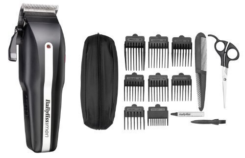 powerlight - 41KV3ULzF3L - BaByliss For Men 7498BU Powerlight Pro 15 Piece Clipper Set