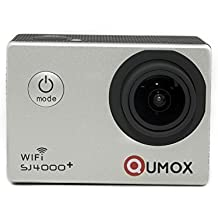 QUMOX multifunción SJ4000+ Plus Wifi 2K HD 1080P 720P Impermeable Action Sports Helmetcamera Digital Video Recorder DVR videocámara, 12 mega píxeles, 170 ° gran angular de alta definición, con el caso impermeable Mounts Múltiples, Color Plata