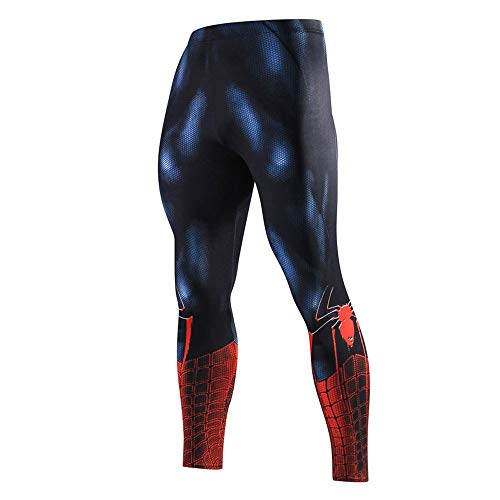 JUFENG Mens Compression Tights Superheld Base Layer Gamaschen Gym Lange Lauf Thermal Workout Elastische Strumpfhosen,D-M