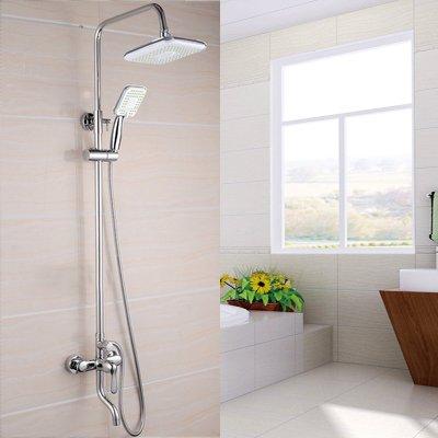 MangeooDusche, voll Kupfer Wasserhahn bad dusche Düse Wasser mischen Ventil und doppelte Kontrolle verdeckte Dusche
