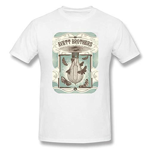Herren Rundhals Basic Kurzarm T-Shirt Avett Brothers Cotton Casual Top 2XL