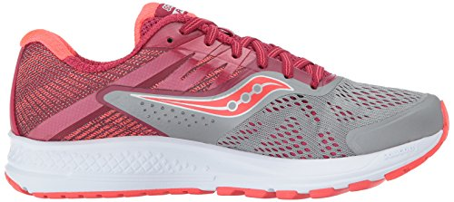 Saucony Ride 10, Scarpe Running Donna Multicolore (gris / Petits Fruits)