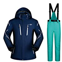 Jiuyizhe Chaqueta de esquí de montaña para Hombre al Aire Libre Impermeable Impermeable a Prueba de Viento de Invierno (Color : 04, Size : XXL)