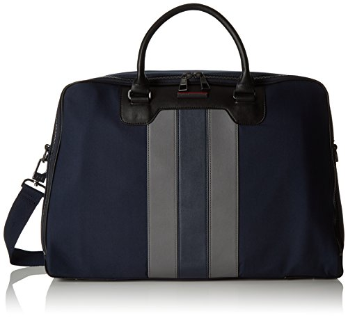 Tommy Hilfiger Stripe Story Duffle, Sacs portés main Multicolore - Mehrfarbig (Midnight/Iron 901 901)