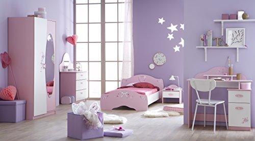 Offre de prix Demeyere 365469 Papillon Lit Rose Orchidée/Blanc 202,8 x 110 x 67,5 cm