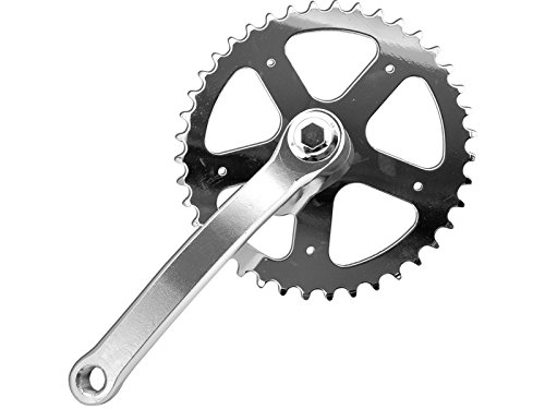 PROWHEEL - 13026 : Plato y bielas Singlespeed BMX fixed 165mm 40 dientes bici bicicleta