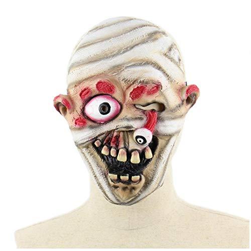 qiaoaoa Scary Zombie Dolls Maske, Halloween Maske Devil Demon Wizard Kostüm Party Latex Maske Bleeding Zombie Horror Gesichtsmaske für - Scary Doll Halloween Kostüm